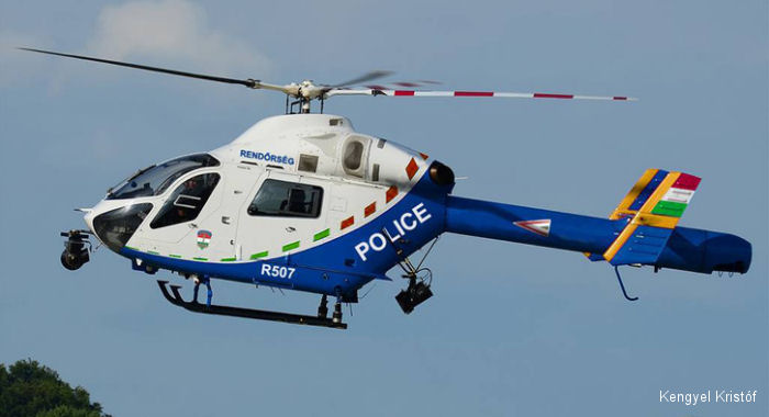 The Hungarian National Police received 5 former German Police MD902 Explorer helicopters to replace an aging Mi-2 fleet