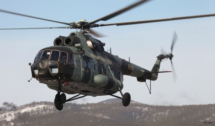 Russian Helicopters to deliver in 2018 a new batch of five Mi-171Sh military transport helicopters to the Bangladesh's Air Force