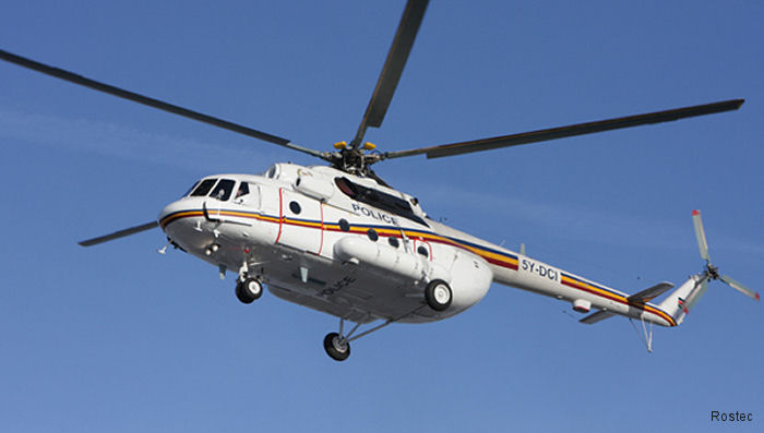 Russian Helicopters delivered a Mi-17V-5 produced by Kazan to the Kenya National Police