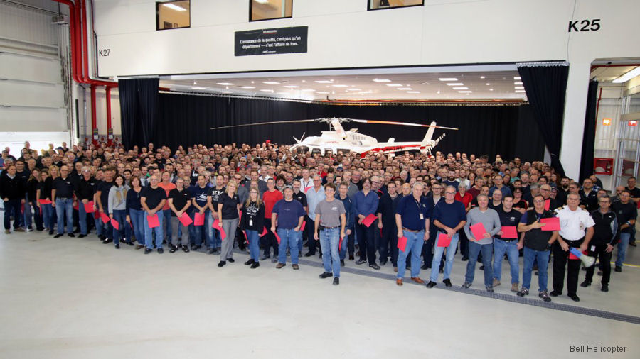 Bell Helicopter Canadian facility located in Mirabel has completed its 5,000th aircraft. Is a 407GXP going to China