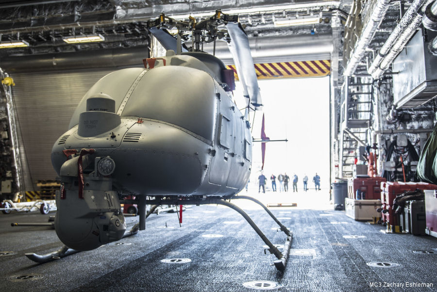 US Navy's MQ-8C Fire Scout drone returned from USS Montgomery (LCS-8)  after completing initial testing aboard a littoral combat ship. Will begin initial operational test and evaluation in fall 2017