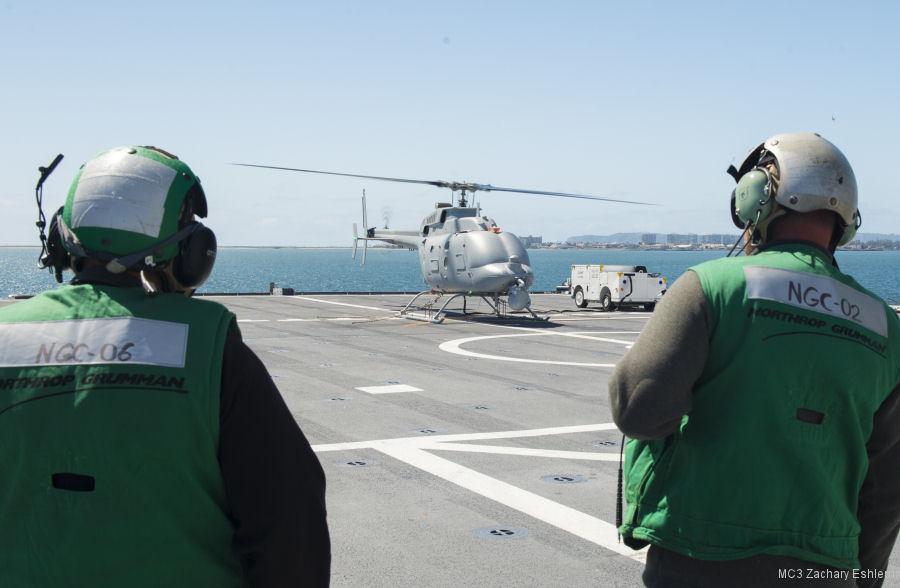 MQ-8C Fire Scout completes first test period aboard LCS