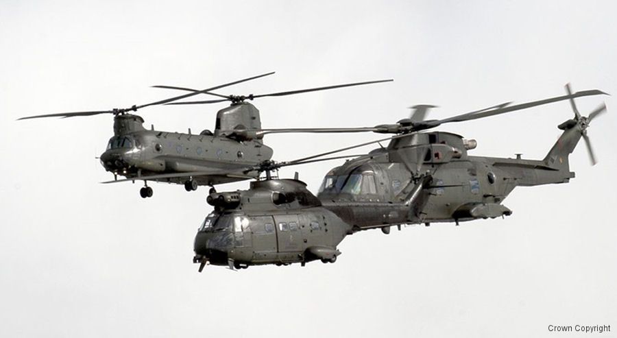 UK Ministry of Defence (UK MoD) Medium Support Helicopter Aircrew Training Facility (MSHATF) at RAF Benson involving CH-47 Chinook, Puma and AW101 Merlin Mk3 fleets renewed to CAE
