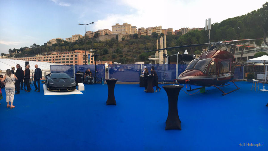 Bell Helicopter showcasing the Bell 429 at the Monaco Yacht Show, September 27-30