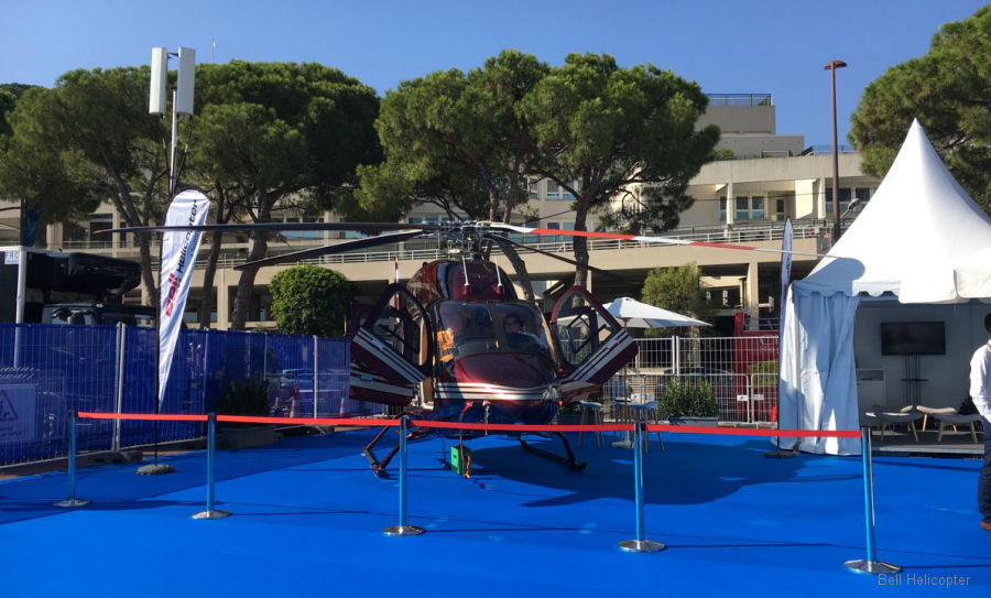 Bell Helicopter at Monaco Yacht Show 2017