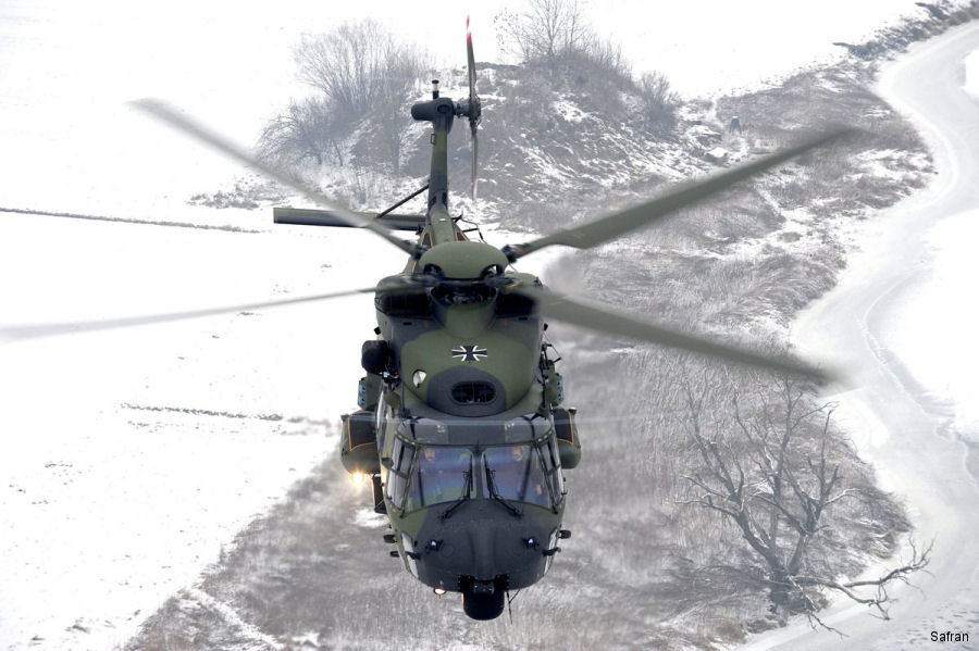 Safran signed a 7-year contract to support RTM322 engines of around 100 NH90 (82 TTH and 18 NTH) operated by the German Army (Heer) and German Navy (Marine)