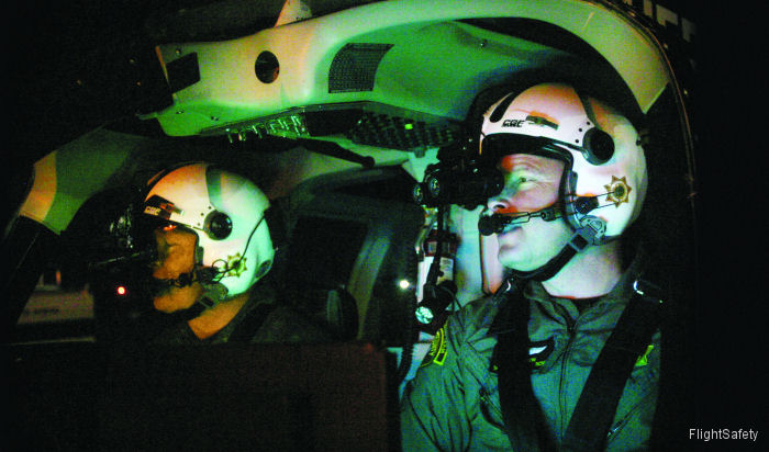 FlightSafety  now offers FAA-approved Part 142 Night Vision Goggle (NVG) initial training for the Airbus H135, Bell 212 and Bell 412EP using Level D qualified simulators