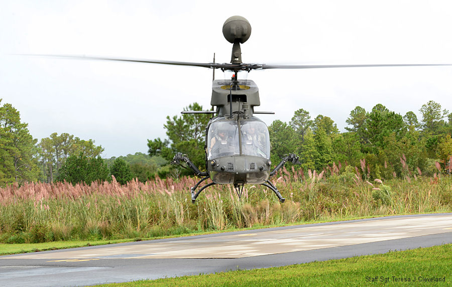 The US Army Aviation Development Directorate flew the Army's final OH-58D Kiowa Warrior flight from Felker Army Airfield at Joint Base Langley-Eustis on September 19, 2017