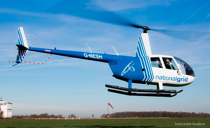 Three Helicentre Aviation' R44 Raven II helicopters replacing leased Bell 206 in the UK's National Grid largest onshore pipeline surveillance contract