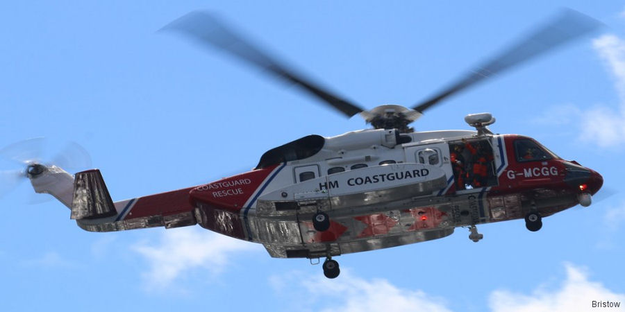 HM Coastguard's search and rescue (SAR) helicopter team at Prestwick  completed its 500th mission since it began flying in January 2016 by Bristow
