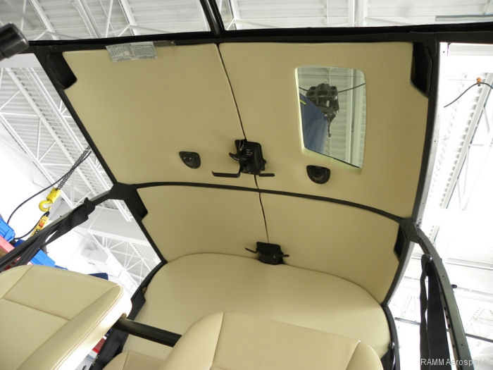 RAMM Aerospace Announces Transport Canada Approved R44 Wipe Clean Bulkhead Headliner Kit
