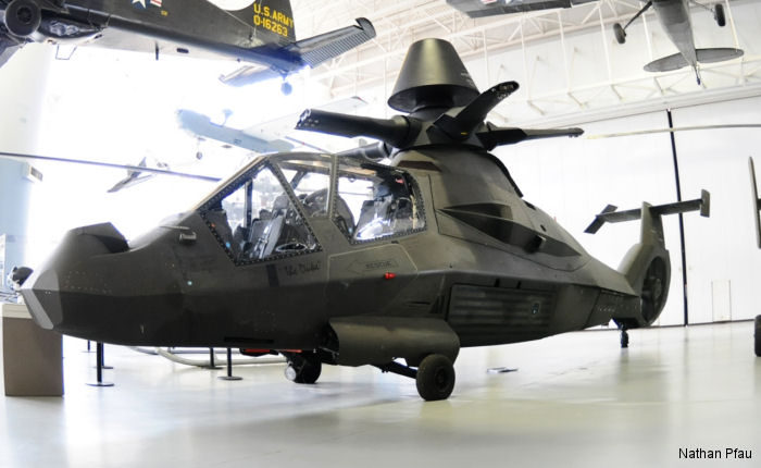 A Boeing/Sikorsky RAH-66 Comanche, one of the two built, is on display at the US Army Aviation museum at Fort Rucker, Alabama for limited time until they replace it on the floor with an Apache :(