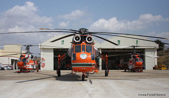 Erickson has received an order to build its first S-64 Aircrane in eight years. South Korea Forest Service to receive the firefighting helicopter by December this year