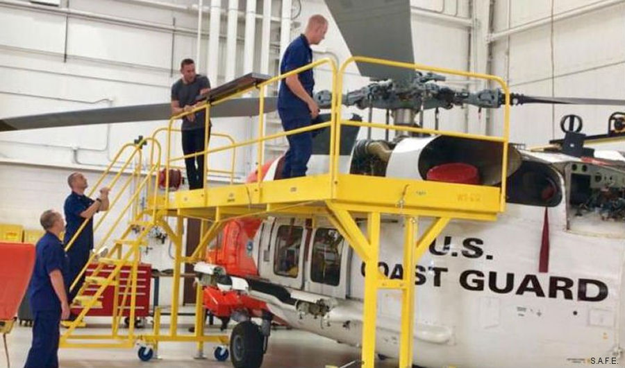 S.A.F.E Structure Designs completed delivery of hangar equipment outfitting for the United States Coast Guard's fleet of Sikorsky MH-60 Jayhawks in Mobile, Alabama