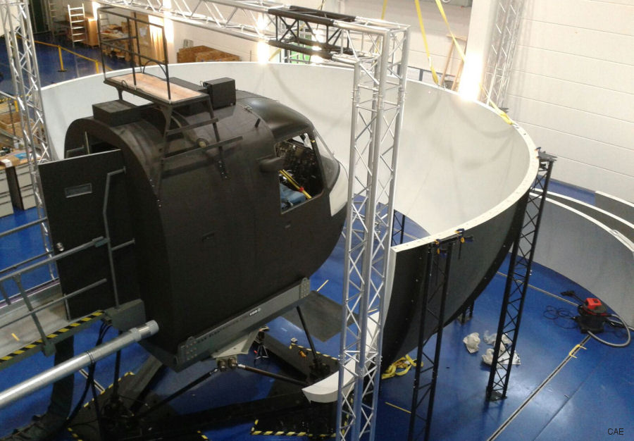 Upgraded German Navy Sea King helicopter simulator ready-for-training at Nordholz Naval Airbase