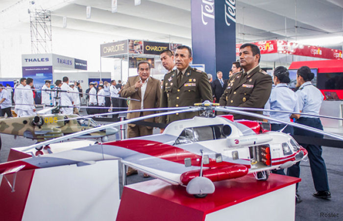Rosoboronexport, a member of Rostec, set up a joint Russian display booth at the 6th International Defense Technology Exhibition SITDEF-2017 at the Army HQ, Lima, Peru, May 18-21