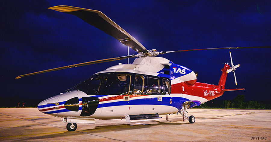Thai Aviation Services (TAS) S-76D and S-92 helicopter fleet to be fitted with SKYTRAC ISAT-200A hardware for Real-Time Data Management & EFB Process Automation