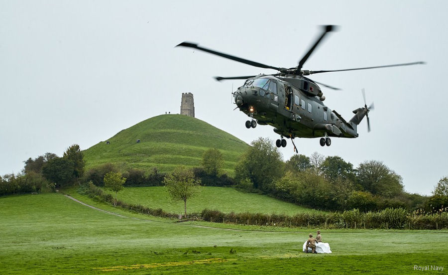 846 NAS' Merlin Helps Iconic Somerset Site