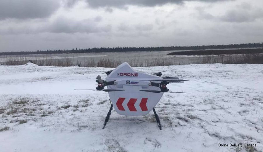 Transport Canada accepted Drone Delivery Canada's Declaration of Compliance for the X1000 Sparrow cargo delivery drone