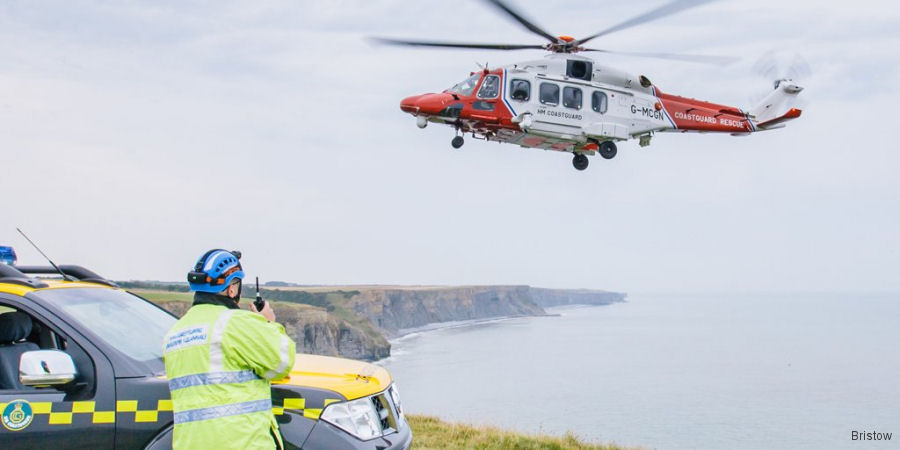 St Athan HM Coastguard search and rescue (SAR) helicopter team  completed its 500th mission since operated by Bristow from October 2015