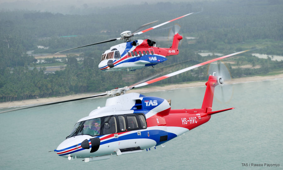 Thai Aviation Services (TAS) implemented WinAir Version 7, the lastest software solution to control helicopter fleet maintenance and logistics from Canadian company WinAir