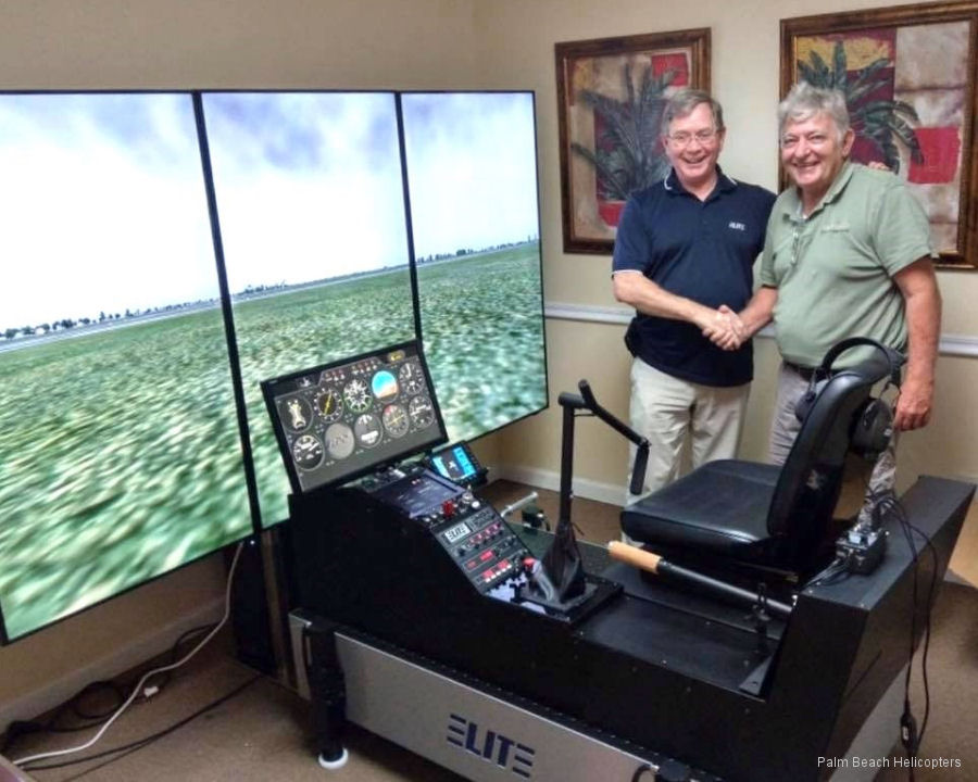 Palm Beach Helicopters from Lantana, FL, received new TH22SM Advanced Aviation Training Device (AATD) manufactured by ELITE Simulation Solutions.