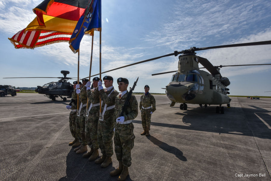 The 1st Battalion, 3rd Aviation Regiment assigned to 12th Combat Aviation Brigade, US Army Europe in Germany was the recipient of the 2016  Top Aviation Battalion of the Year Award