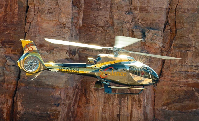 Sundance Helicopters EC130 in partnership with the Tropicana Las Vegas Hotel for a Grand Canyon experience flight