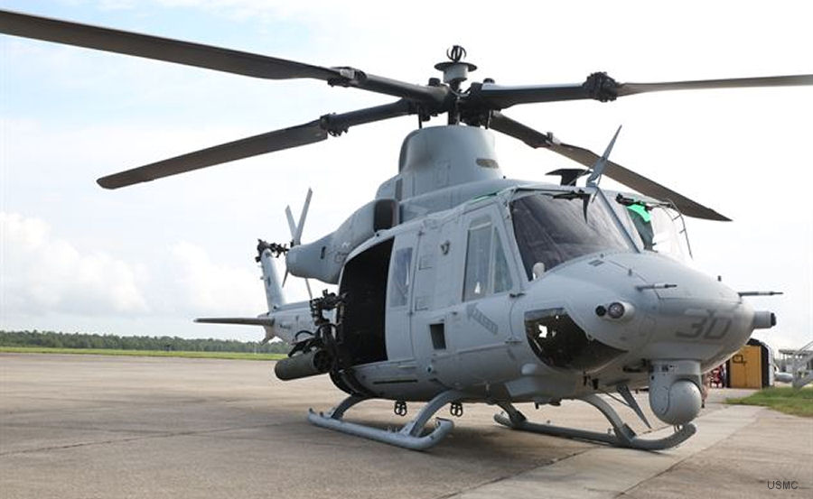 The Bell UH-1Y is the primary utilty helicopter of the US Marine Corps