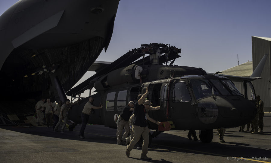 First UH-60A+ Black Hawk Delivered to Afghan Air Force