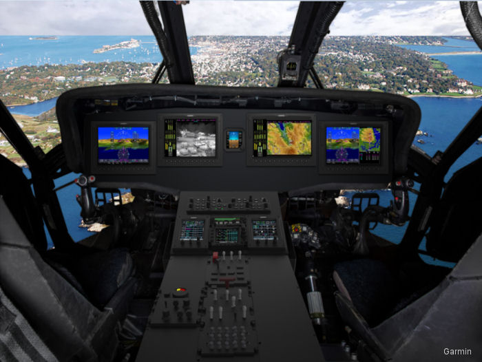 The first flight of a Global Aviation Solutions G5000H-equipped UH-60A Black Hawk helicopter occurred in March 2017 expecting certification for 2018
