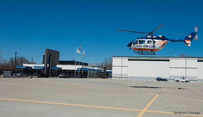 Since the Vertiport Chicago opened 2015, it has provided safe and secure landing site for Flight For Life (FFL) and other air medical helicopters