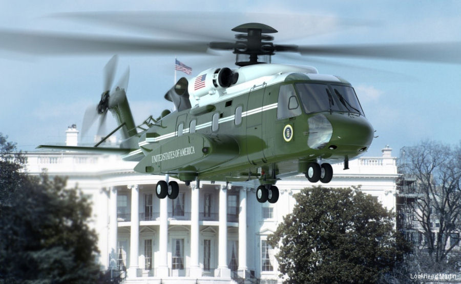 The VH-92A test aircraft achieves first flight on July 28 at Owego, NY starting a 250 hours test program. Based on the S-92, the new presidential helicopter is scheduled to enter service in 2020