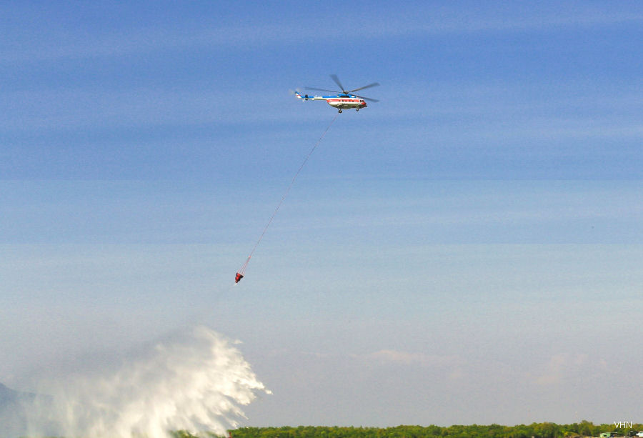 For second year, Vietnam's VNH South providing 4 Mi-172 in wet lease contract to Indonesia for firefighting service