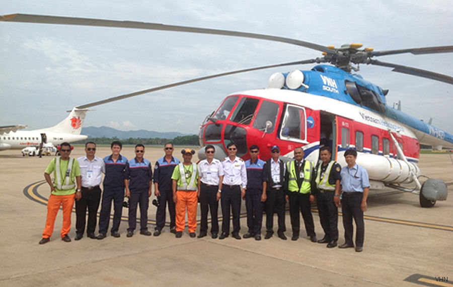 VNH South 2 Mi-172 Helicopters Perform Ferry Flights to Indonesia for Firefighting Service