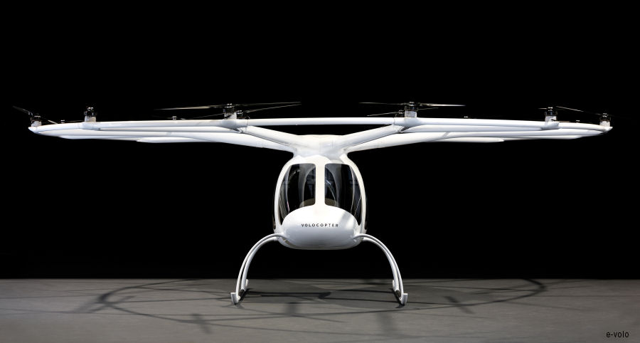 World premiere of the Volocopter series model 2X – The flying taxi is just about to be launched onto the market