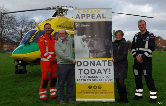 Wiltshire Air Ambulance (WAA) granted permission for its new operations center at Outmarsh Farm, Semington and launched its Airbase Appeal to raise £1.25 million