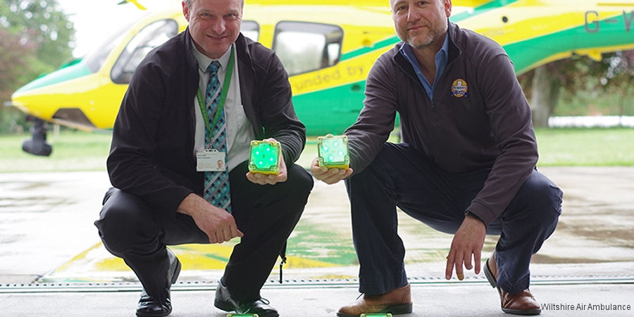 Lighting up Wiltshire Air Ambulance's airfield thanks to the HELP Appeal