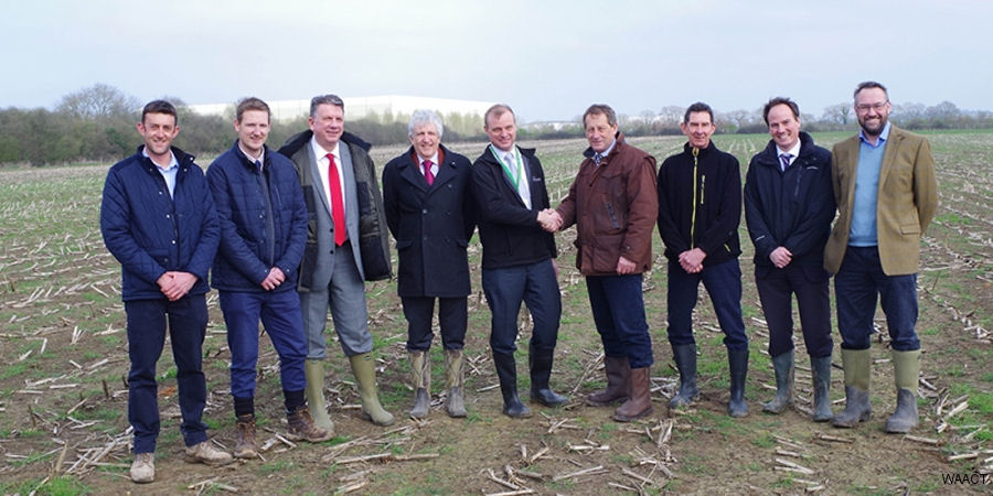 On the site at Outmarsh Farm, Semington, where Wiltshire Air Ambulance's new airbase will be built