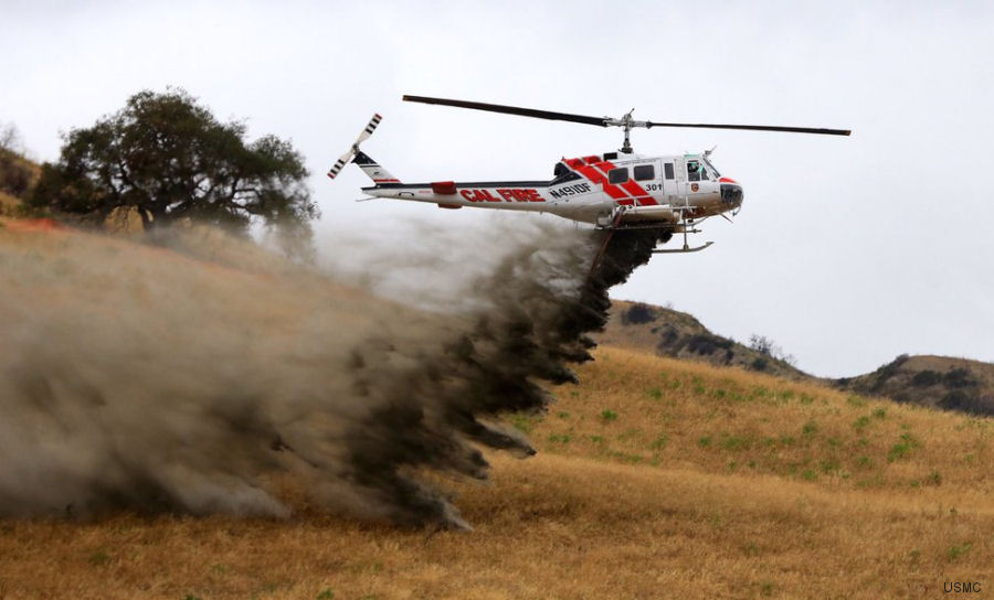 A wildland firefighting exercise involving Marine units from Camp Pendleton, California's CALFIRE, and the San Diego Sheriff's Department will take place May 4