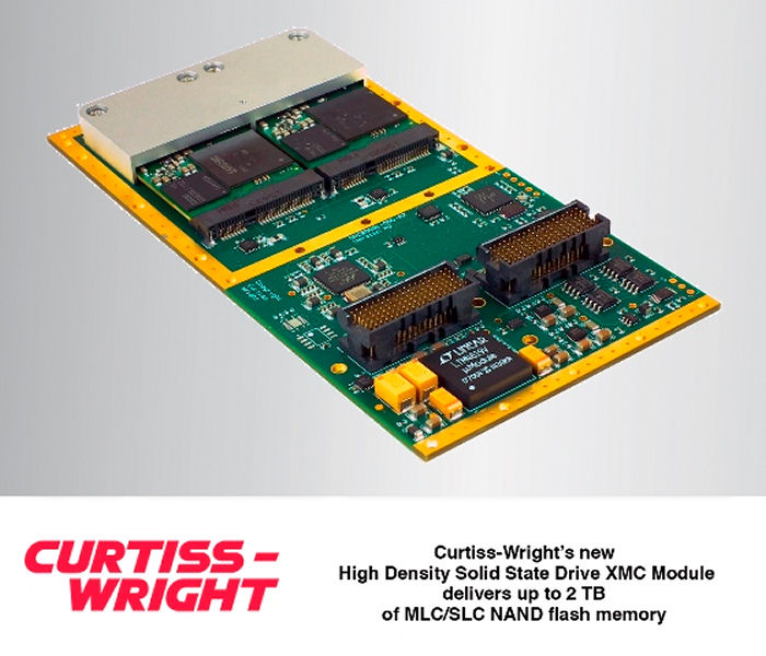 Curtiss-Wright introduced the XMC-554, a rugged, high performance, reliable and power-efficient solid-state drive (SSD) solution that delivers up to 2 TB of MLC/SLC NAND flash memory