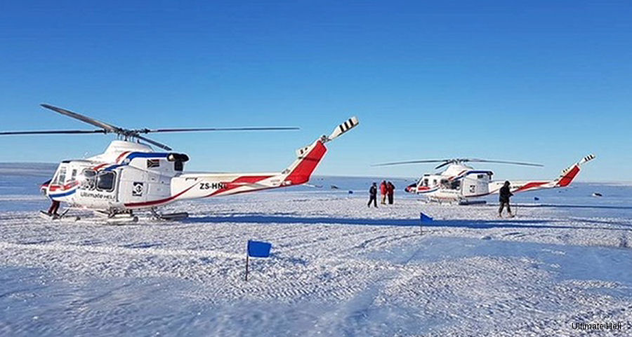 Ultimate Heli Bell 412 in 2018 Antarctic Campaign