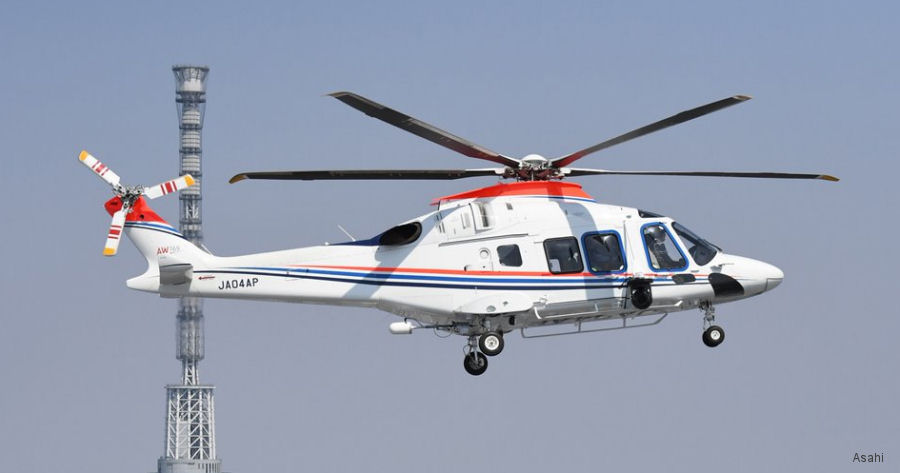 Leonardo Japanese official distributor, Mitsui Bussan Aerospace, announced Asahi ordered its second AW169 for news gathering service. To be delivered in 2021. Will be the fourth AW169 in Japan