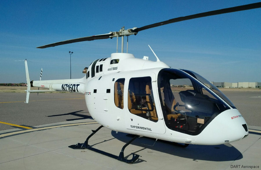 Transport Canada certified Bell 505 Bearpaws made by DART Aerospace