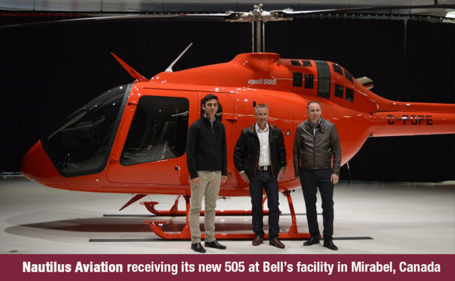 In a ceremony at its Canadian Mirabel facility, Bell announced delivery of two Bell 505 Jet Ranger X to Australia' Nautilus Aviation, the first in the Asia Pacific Region