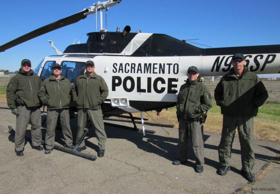 City of Sacramento Police currently used Bell OH-58 from surplus US Army helicopters