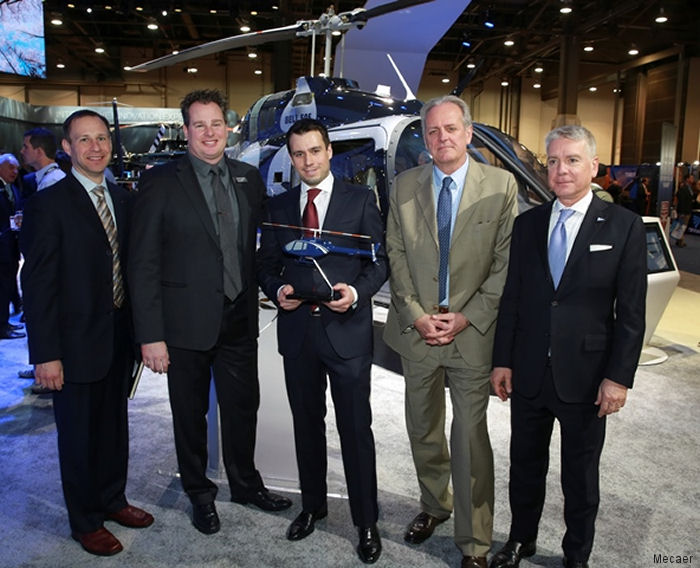 Helite Signs for First Mecaer VIP Bell 505