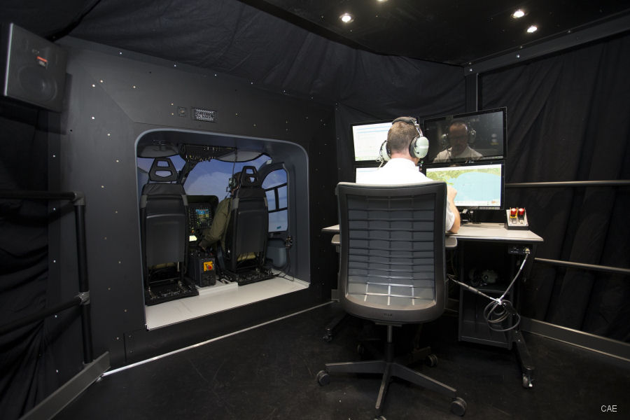 CAE 700MR Simulator for Military Helicopter Training