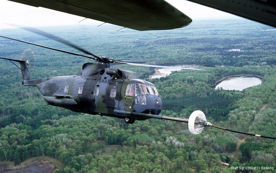 HH-3E Jolly Green Giant air refueling in flight