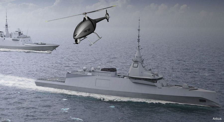 France awarded contract to Airbus and Naval Group to develop a  tactical helicopter drone demonstrator to be operated aboard warships